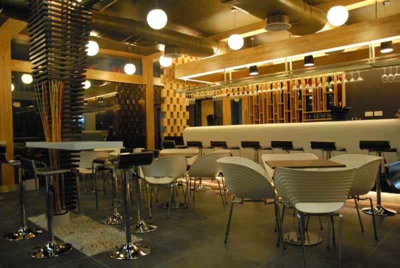 Interior Of The 24*7 Lounge Designed By Our Restaurant Interior Designers